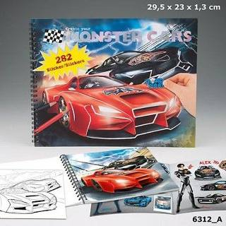 create-your-monster-cars-cuaderno-papelería-telli