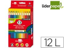 lapices-liderpapel12-colores-jumbo-triangular-papelería-telli