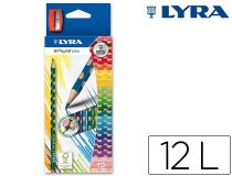 lapices-groove-slim-12-colores-lyra-papelería-telli